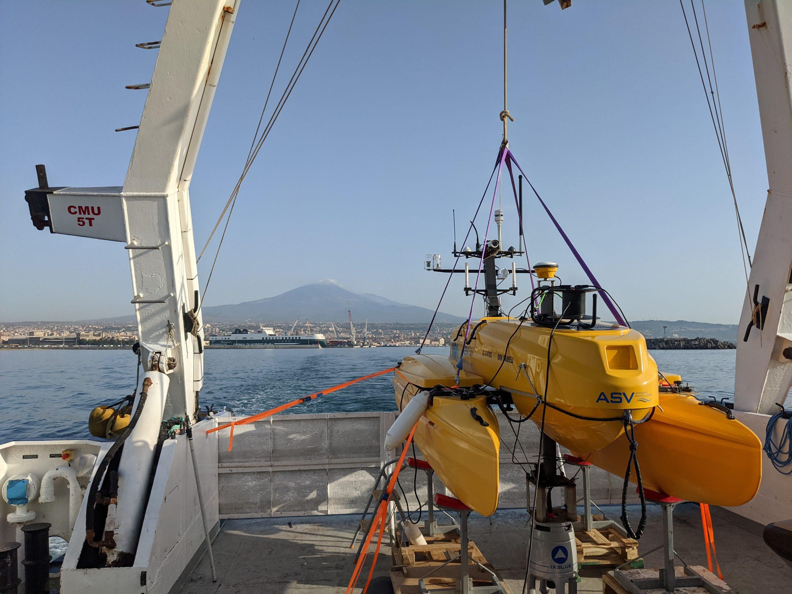 Mission terrain sur les pentes de l'Etna 1